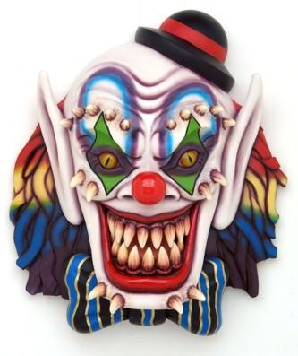 """MASCARA PAYASO REPLICA GRANDE DECORACIÓN PARED"""