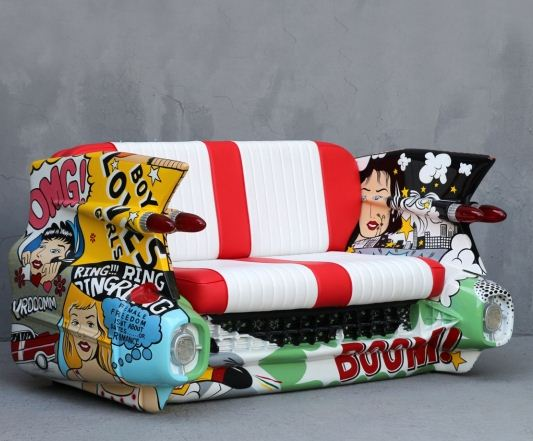 Coches decoraci n muebles - Muebles pop art ...